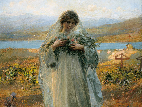 Giuseppe Mentessi, Pace, 1907, olio su tele, 164x135