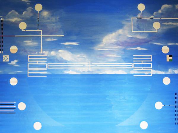 Ernesto Jannini, <em>Paesaggio mirino</em>, 2011. Olio su tela, cm 180 x 220,7<br /><br />
