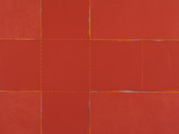Claudio Verna, A 59, 1971, acrilico su tela, 140,5x180,5 cm., Mart, Collezione VAF-Stiftung (dettaglio)