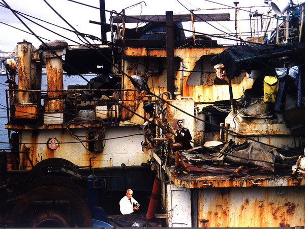 Concha Jerez, Abitanti di paradisi immaginati, 2002-2007. Fotomontaggio digitale su tela, 100x70 cm.