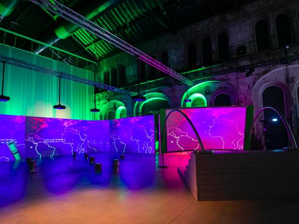 Biennale Dell'immagine In Movimento - The Sound of Screens Imploding, installation view,OGR – Officine Grandi Riparazioni, Torino