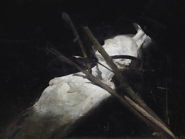 Nocola Samorì, Corpo d'estasi, 2012, oil on linen, 200x300 cm (detail)