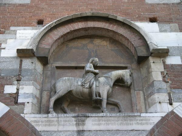 Oldrado da Tresseno a cavallo