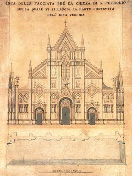 Progetti per la facciata della chiesa