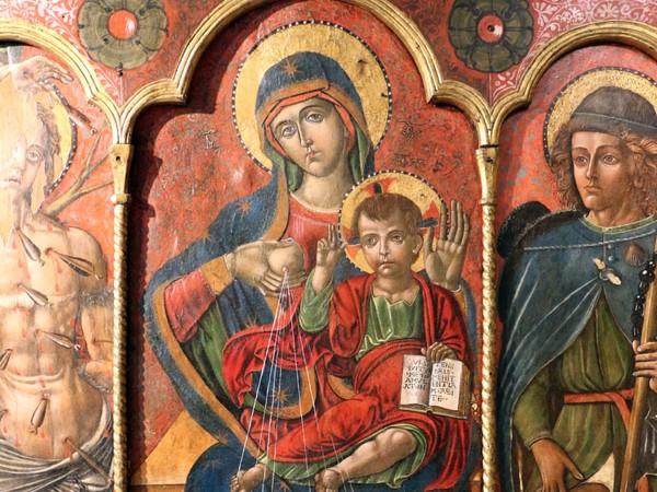 Michele Greco da Valona, Trittico di Sant'Adamo della Collegiata, della Collegiata, 1510. Santa Maria Maggiore, Guglionesi