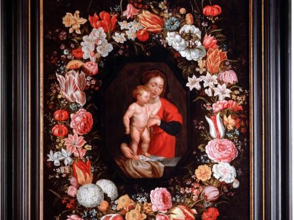 Pieter Paul Rubens e Jan Brueghel il Vecchio, Madonna col Bambino in una ghirlanda di fiori. 1616-18