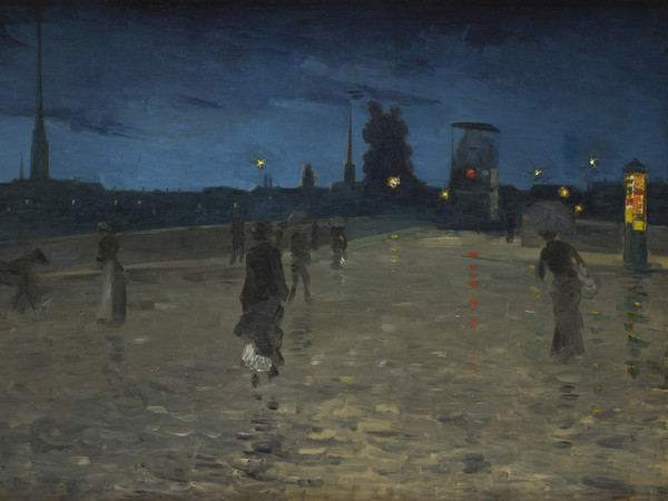 Charles Angrand, <em>Il Ponte di Pietra a Rouen</em>, 1881, Olio su tela, 124 x 80 cm, Collection Association Peindre en Normandie, Caen