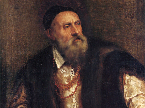 Tiziano Vecellio (Pieve di Cadore 1490 - Venezia 1576), Autoritratto, 1550-1562 circa, Olio su tela, 96 x 75 cm, Berlino Gemäldegalerie