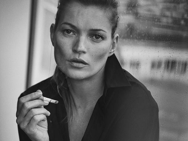 Peter Lindbergh, Kate Moss, Paris, 2015, Vogue Italia
