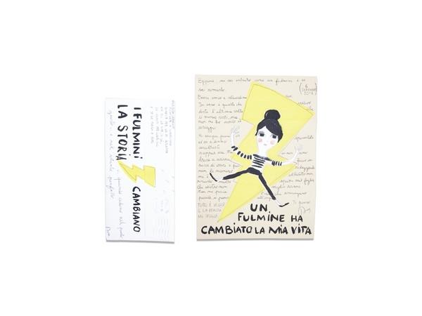 Dora Creminati, Un Fulmine ha cambiato la mia vita, 2018, carta, busta 22x12 e foglio cm. 18x25