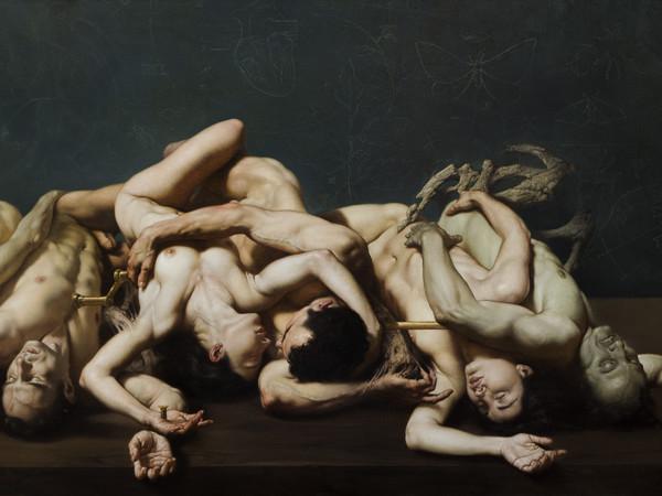 Roberto Ferri, L'amore, la morte e il sogno, olio su tela, 110 x 200 cm.