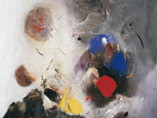 Edmondo Bacci, Avvenimento #247, 1956, olio con sabbia su tela, 140,2 x 140 cm. Collezione Peggy Guggenheim, Venezia 76.2553 PG 164