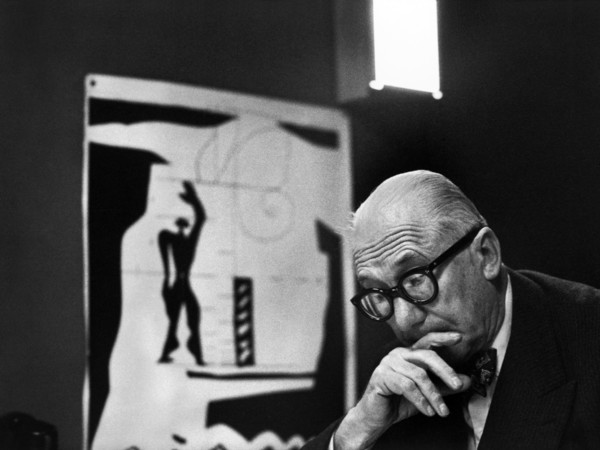 Ren&eacute; Burri, <em>Le Corbusier and his &quot;Modulor&quot; in his office</em>, 35 rue de S&egrave;vres, Paris, France, 1959