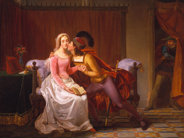 Louis Rubio Paolo e Francesca, 1831-1833, olio su tela, Collezione privata, Londra