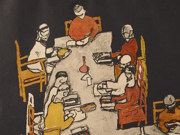 Egon Shiele, Manifesto per la 49 mostra della Secessione Viennese (1918), 1918, Litografia a colori su carta | © Klimt Foundation, Wien