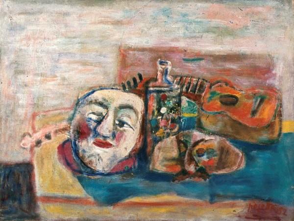Guido Pajetta,Natura morta con maschera e chitarra, 1952