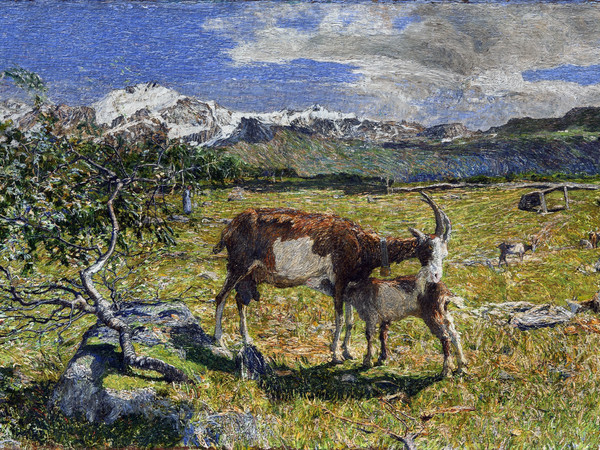 Giovanni Segantini, Alpe di maggio, 1891, olio su tela, 54 x 86 cm