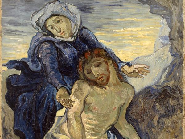 Vincent van Gogh, Pietà, 1889 circa, olio su tela, cm 41,5x34. Città del Vaticano, Musei Vaticani, inv. 23698. Foto © Governatorato dello Stato della Città del Vaticano-Direzione dei Musei