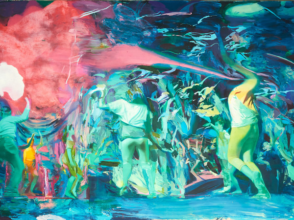 Giuseppe Gonella, Vivenze II, 2016-17. Oil on canvas 200x300 cm