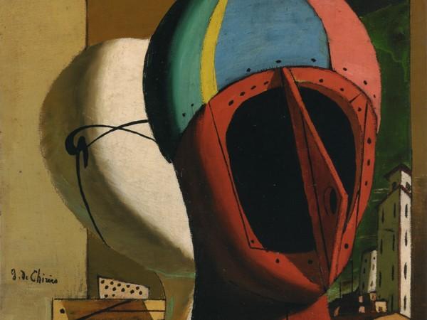 Giorgio de Chirico, Composizione metafisica (Muse metafisiche) (Metaphysical Composition – Metaphysical Muses), 1918. Collezione Fondazione Francesco Federico Cerruti per l'Arte, long-term loan to Castello di Rivoli Museo d'Arte Contemporanea, Rivoli