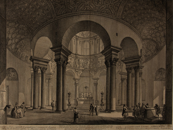 Giambattista Piranesi, <em>Vedute di Roma</em>,<em> Mausoleo di Santa Costanza</em>, Acquaforte, 41.5 x 56.4 cm | Courtesy Musei Civici di Bassano del Grappa<br />