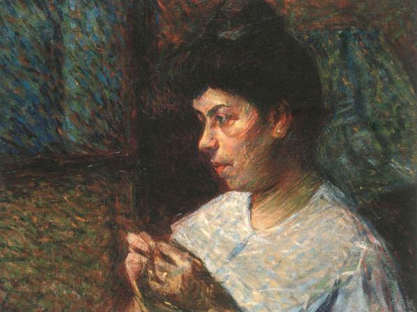 Umberto Boccioni, Donna che cuce, 1906