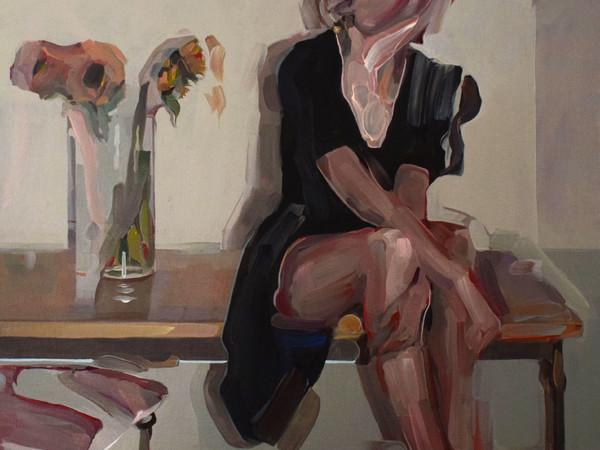 Evita Andújar, Stolen Selfie 31 o Labrinto di vuoti, 2019. Acrilico su tela, cm. 90x80
