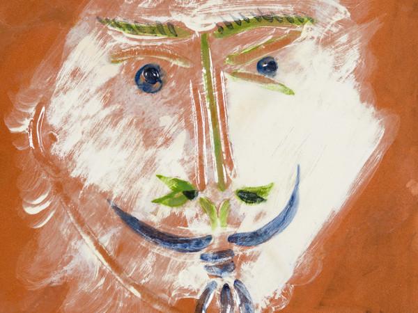 Pablo Picasso, Face with goatee, 1968-69. Ceramica, 100 esemplari. Collezione Nicola Pontalti