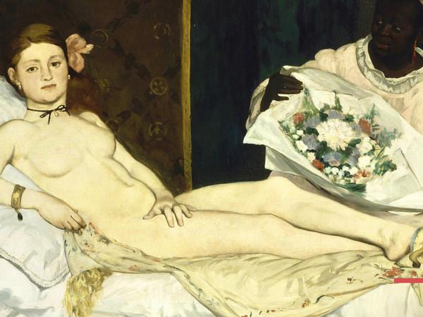 Immagine dell'opera di Édouard Manet, Olympia, 1863, olio su tela, 130,5x190 cm. Musée d'Orsay, Parigi
