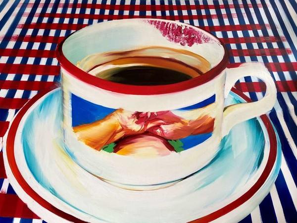 Andrea Fontanari, <em>The day before you came</em>, 2020, oil on linen, 162 x 225 cm.
