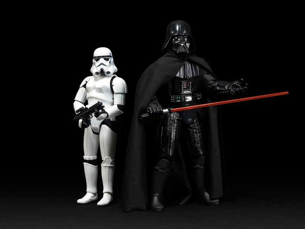 """Stormtrooper 12"""" Doll, 2004. Electronic Darth Vader, Collector Series, 1997"""