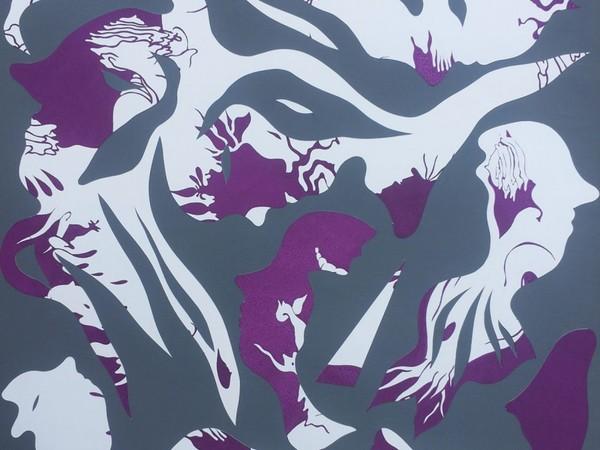 Aris, Untitled, tecnica mista su carta, 45x45