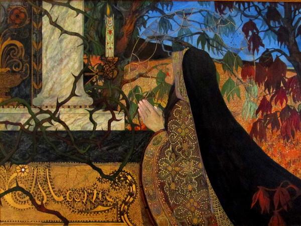 Carl Strathmann, Maria, 1987, Olio su tela,Weimar, Kunstsammlung