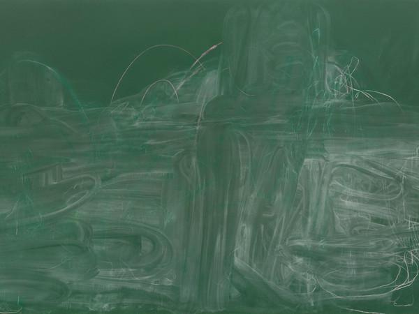 Rita Ackermann, Meditation on Violence I, 2014, acrylic, spray paint and chalk on canvas, 290x565x6 cm.
