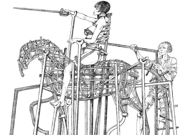 Guido Crepax, Illustrazione per l'<em>Encyclopedie de Valentina</em>, 1972   Courtesy of Museo Civico di Bassano del Grappa<br />
