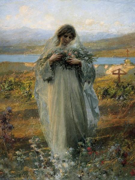 Giuseppe Mentessi, Pace, 1907, olio su tela, cm 164x135