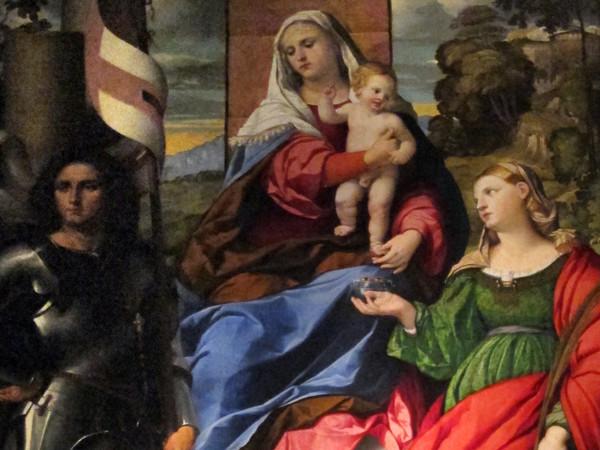 Madonna col Bambino e i ss. Giorgio, Lucia e angelo musicante