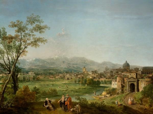 Veduta ideale di Vicenza con celebrazione allegorica di Andrea Palladio