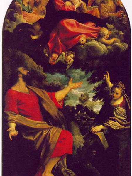 San Vincenzo Martire in adorazione della Vergine col Bambino