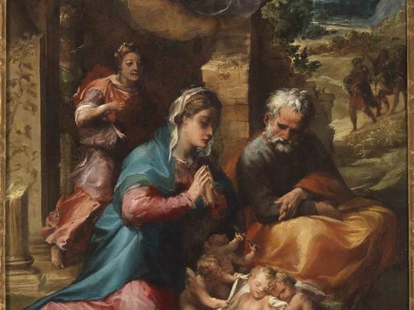 Michelangelo Anselmi, L'Adorazione del Bambino
