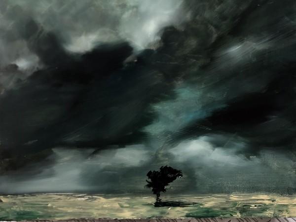 Tom Porta, <em>Tempest II</em>, 2019, Olio su tela, 40 x 40cm | Foto: &copy; Tom Porta