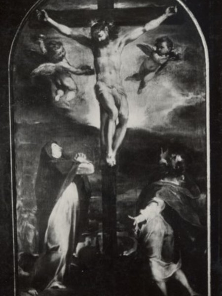 Crocifissione con la Vergine, San Giovanni e San Sebastiano