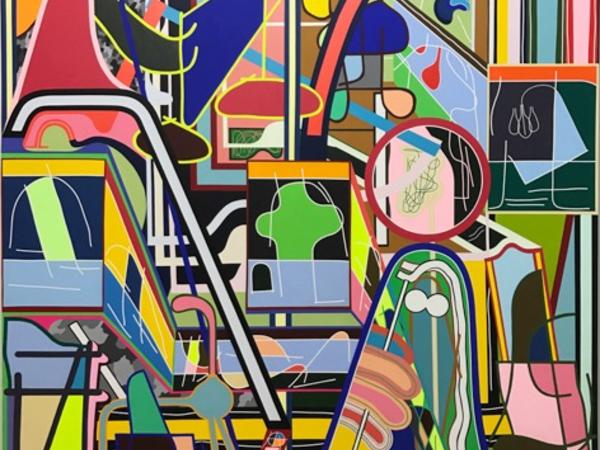 """Eric Shaw, """"Tbt"""" 213,36x182,88 cm acrylic on canvas"""