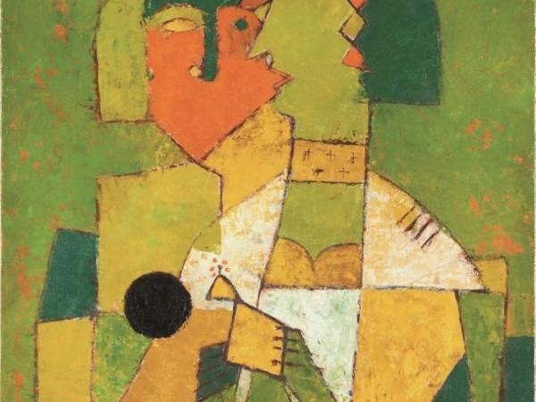 Vasudeo Santu Gaitonde, Senza titolo, 1955, olio su tela