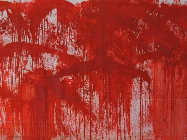 Hermann Nitsch, 18b.malaktion, 1986 casa Morra, Napoli, 350x200 cm