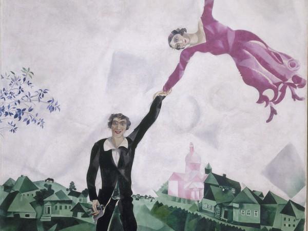 Marc Chagall, La passeggiata, 1917-1918, Olio su tela | © State Russian Museum, St. Petersburg