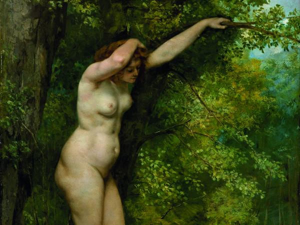 Gustave Courbet, Giovane bagnante, 1866, Olio su tela, 97.2 x 130.2 cm, New York, Metropolitan Museum of Art, H.O. Havemeyer Collection, lascito della signora H.O. Havemeyer, 1929