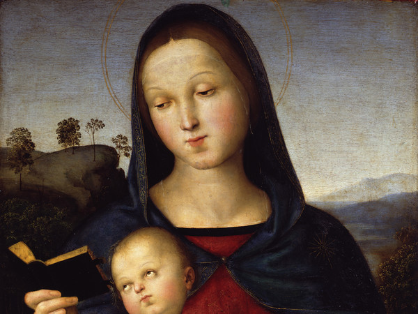 Raffaello Sanzio, Madonna Solly, 1502, Olio su tavola, 40.6 x 54.3 cm | © Staatliche Museen zu Berlin, Gemäldegalerie / Jörg P. Anders | Raffael in Berlin. The Madonnas of the Gemäldegalerie