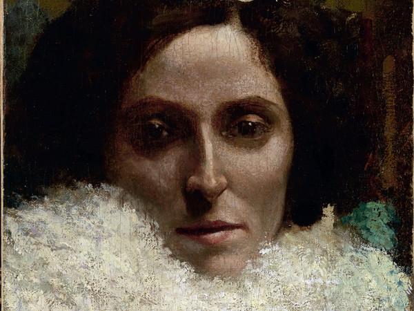 Giovanni Segantini, Ritratto di Leopoldina Grubicy, 1880, olio su tela