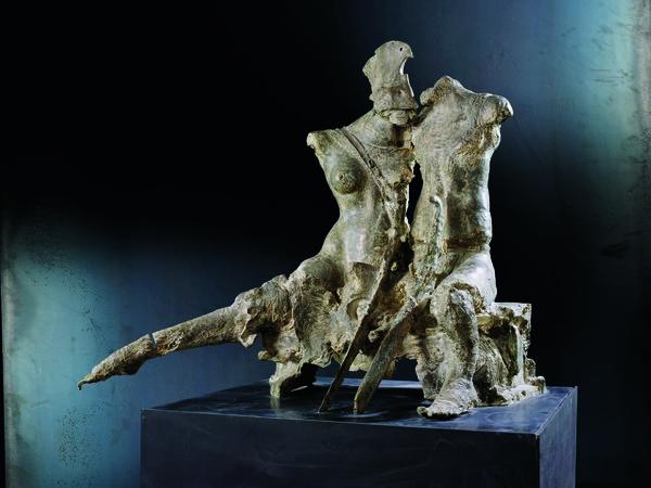 Ugo Riva, Tregua, bronzo, 1986